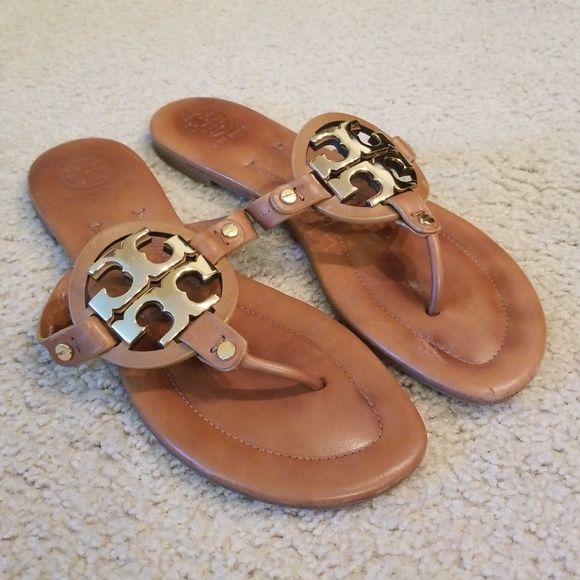 e538f7e051a7 Tory Burch Shoes - Tory Burch Miller 2 Metal Logo Sandal - Size 9